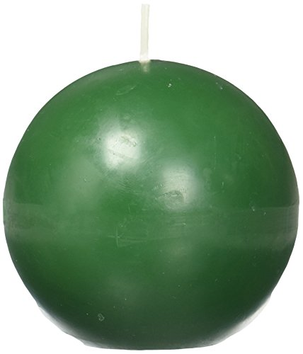 Zest Candle 6-Piece Ball Candles, 3-Inch, Hunter Green