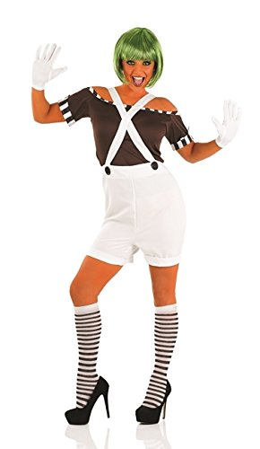 Oompa Loompa Wig (Oompa Loompa Female Fancy Dress Costume & Wig - S (US 6-8))