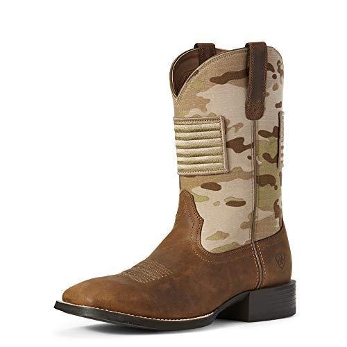 ARIAT Men's Sport Patriot Western Boot Distressed Brown Size 11 Ee/Wide Us