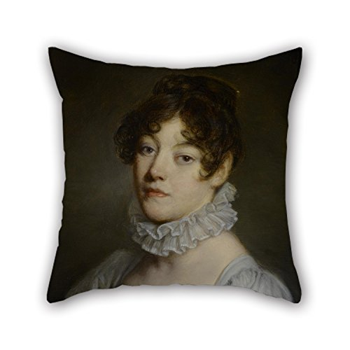 Jean Baptiste Greuze Paintings - The Oil Painting Jean-Baptiste Greuze - Portrait Of A Young Woman Cushion Covers Of ,18 X 18 Inches / 45 By 45 Cm Decoration,gift For Teens Boys,office,couples,teens Boys,bench,gf (twice Sides)
