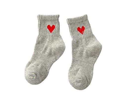 PenGreat Kids Toddler Big Little Girls Fashion Cotton Crew Love Pattern Socks 5 Pairs by PenGreat (Image #5)