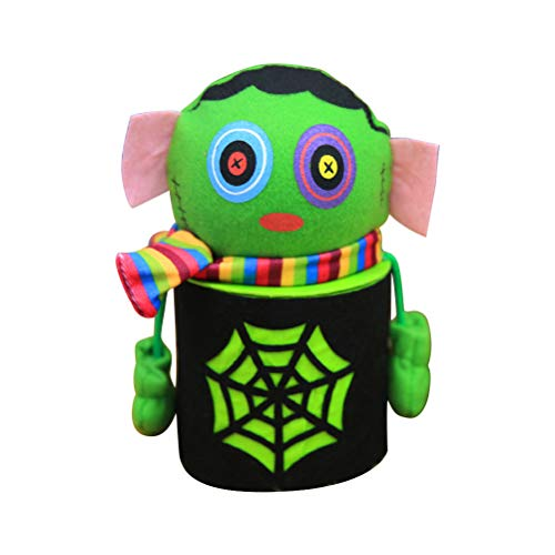 BESTOYARD Halloween Cute Cartoon Zombie Candy Jar Tin Treat Cookie Sweet Storage Container Holder Canister Bucket Bin Gift Box for Kids Halloween Home Party Bar Decoration Cosplay -