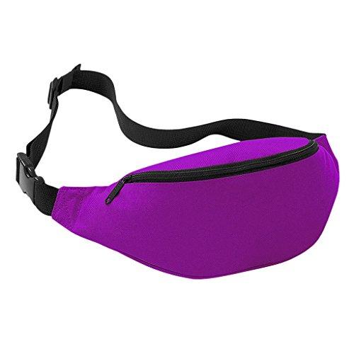Praktische Brusttasche Hüfttasche Bauchtasche für Geld, Schlüssel und Handys usw. Sporttasche Lila