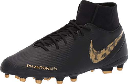Nike Men's Phantom VSN Club DF MG Black/Metallic Vivid Gold 8.5 D US