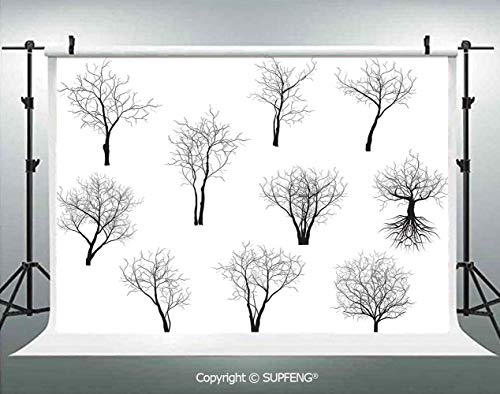 Photography Background Spooky Horror Movie Themed Branches Forest Trees Nature Art Print 3D Backdrops for Photography Backdrop Photo Background Studio Prop]()