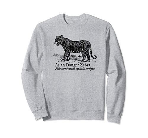 Siberian Tiger Sweatshirt - Asian Danger Zebra Funny Siberian Tiger Animals of the World Sweatshirt