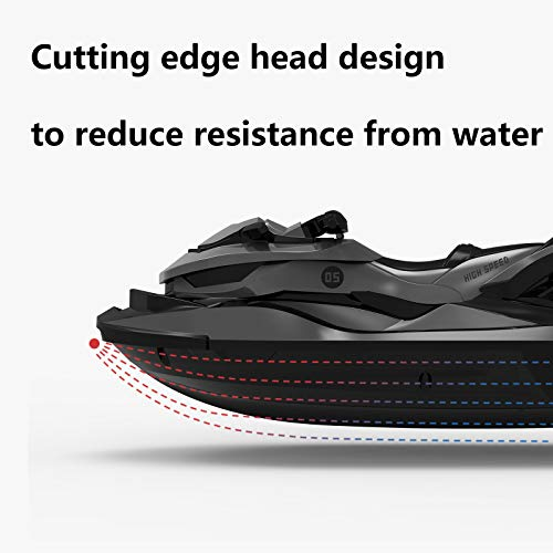 Sanwillco Velocity RC Boat Remote Control Motorboat for Pools and Lakes, 6+ mph 2.4 GHz Racing Boats for Kids and Adults, Improved Waterproof Design, Gifts for Boys Girls with Water Sensing