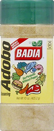 Badia Adobo without Pepper, 15-Ounce (Pack of 12) by Badia