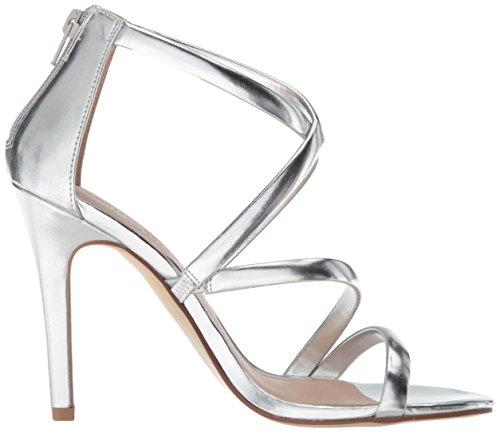 Sandal Heeled Chinese Women's Metallic Silver Jillian Laundry qzq1wvB