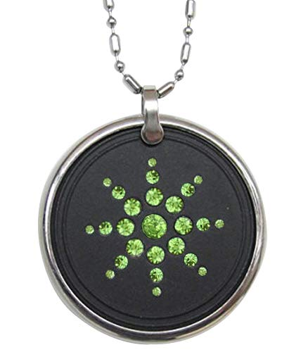 Anti EMF Radiation Protection Pendant,Negative Ion Balance Power,Scalar Energy Volcanic Lava& Black Tourmaline-Far Infrared,Reverse Aging,Joint Pain,Blood Circulation from Goodlee