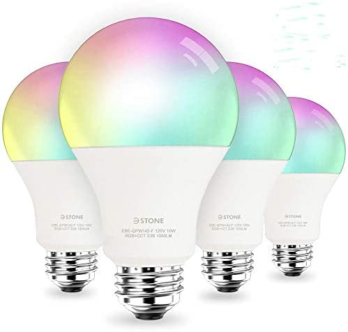 [2020 Upgrade] Smart LED Light Bulb A21 by 3Stone, 2700K-6500K RGBCW 10W (100W Equivalent) E26 WiFi App Voice Controlled 2.4G(Not 5G) Multicolor Bulb, Works Perfect with Alexa, Google Assistant