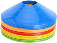 25 Pcs Pro Disc Cones - Training Cones Agility Soccer Cones with Carry Bag for Training, Soccer, Football, Bas