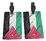 Jordan Flag Design Plastic Flexi Luggage Identifier Tags + Strap Closure