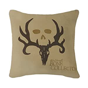Bone Collector Square Logo Pillow, Tan by Bone Collector