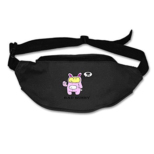 Elvira Jasper Unisex Bad Bunny Fanny Pack Waist/Bum Bag Adjustable Belt Bags Running Cycling Fishing Sport Waist Bags Black]()
