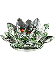 Gancunsh - Portavelas para velas de té (cristal, 7 colores), vidrio, E