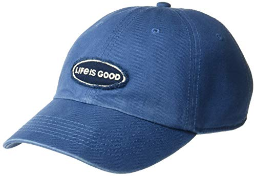 Life is Good Unisex Tattered Chill Cap Baseball Hat, Vintage Blue, OS