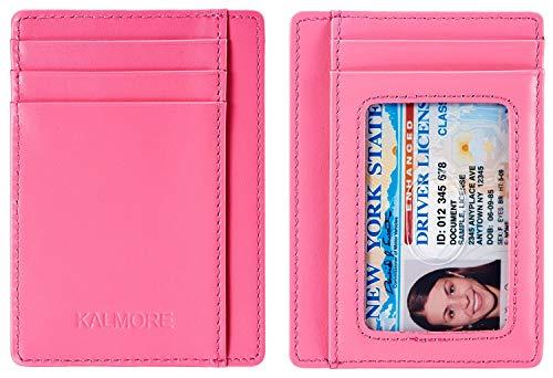 Kalmore Credit Card Holder Genuine Leather Slim & Thin Pocket Wallet Minimalist Wallet Money Clip RFID Blocking by KALMORE (Image #5)
