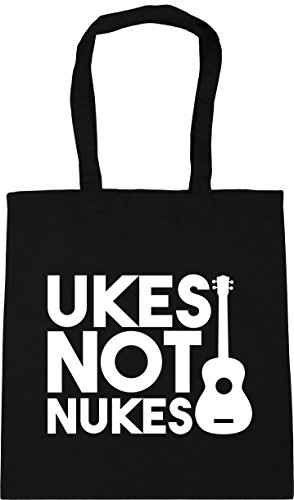 Beach Not 42cm HippoWarehouse Shopping Ukes Black 10 litres x38cm Nukes Gym Bag Tote WpqpS5cY