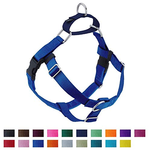 2 Hounds Design Freedom No-Pull No Leash Harness Only, 1-Inch, Large, Royal Blue