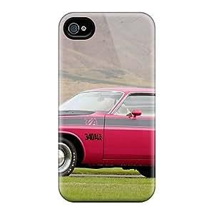 Unique Design Iphone 4/4s Durable Tpu Case Cover Vintage Grass Muscle Vehicles Dodge