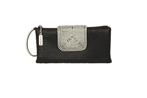 Whiting & Davis Crystal Confection 1-5833BK Wristlet,Black,One Size by Whiting & Davis