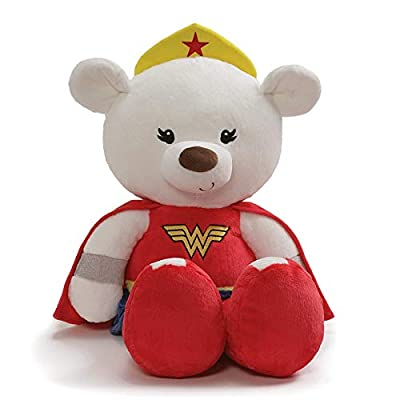 "GUND Jumbo Fuzzy Wonder Woman Plush Stuffed Bear, 25"": Toys & Games"