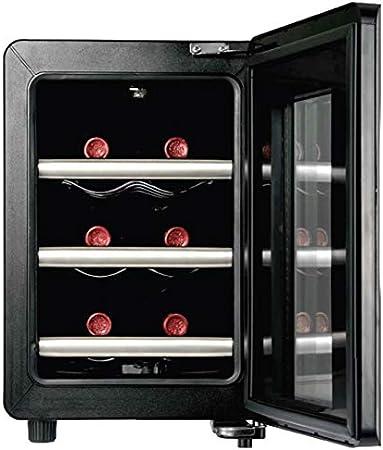Caso WineCase 6 Independiente 6botella(s) A - Enfriador de vino (Independiente, 3 estanterías, Negro, Acero inoxidable, Acero inoxidable, GS, 6 botella(s))[Clase de eficiencia energética A]