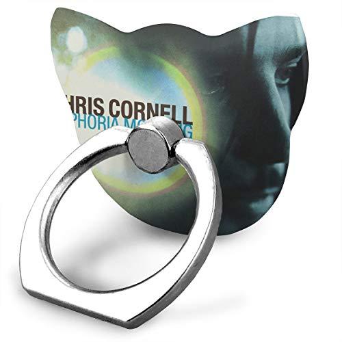EdithL Chris Cornell Euphoria Morning Cellstand Cell Phone Finger Ring Stand, Car Mount 360 Degree Rotation Universal Phone Ring Holder Kickstand for iPhone/iPad/Samsung (Chris Cornell Nearly Forgot My Broken Heart)