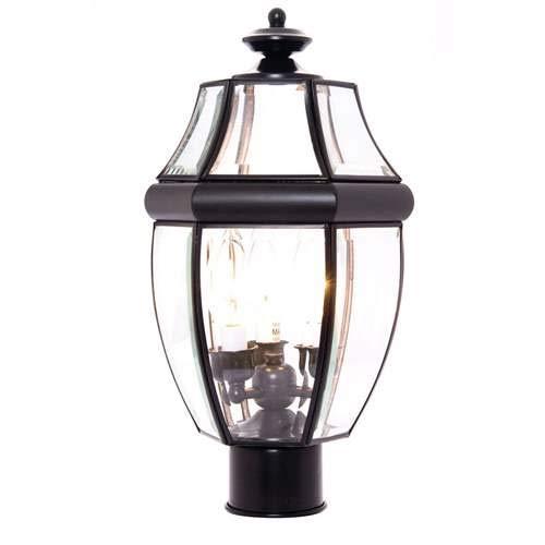 Maxim Lighting South Park Black 3-Light Post Light 6097CLBK