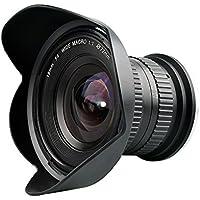 Lightdow 15mm F/4 1:1 Macro + Wide Angle FF(Full-frame) Prime Lens for Canon Nikon Digital SLR Dslr Cameras (for Nikon F)