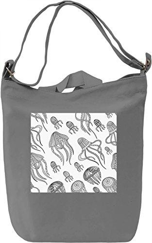 Sea Animals Print Borsa Giornaliera Canvas Canvas Day Bag  100% Premium Cotton Canvas  DTG Printing 
