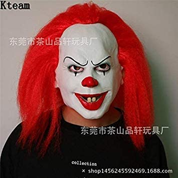 Pennywise Clown Mask Movie It Masks Classic Scary Clown Masken Joker Clown Face Mask With Hair Funny Toy Amazon Com Au Electronics