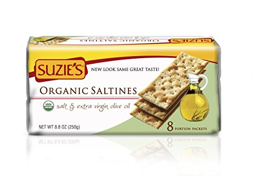 (Suzie's 100% Organic Crackers, Salted with Extra Virgin Olive Oil, 8.8-Ounce Packages (Pack of 12))