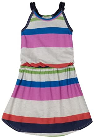 Splendid Little Girls' Variegated Dress,Oatmeal/Neon Pink,2T