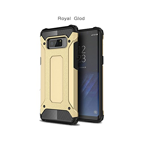 Price comparison product image Note 8 Case, Galaxy Note 8 Case, DAMONDY [Phantom Armor] 360 Degree Power Ful Slim Rugged Design Dual Layer Heavy Duty Hybrid Protection for Samsung Galaxy Note 8 (2017)-gold