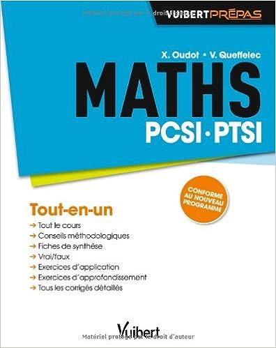 Livre gratuits Maths PCSI-PTSI - Tout-en-un - Conforme au nouveau programme pdf
