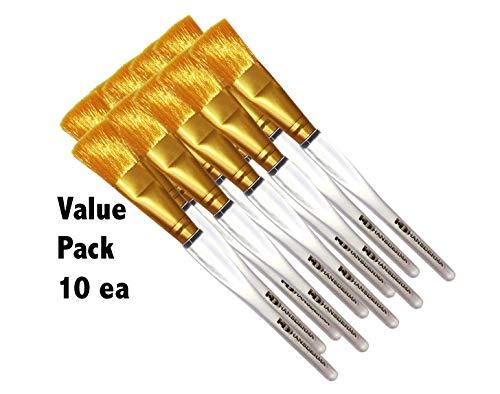 Hansderma Skinsoft Facial Mask Brush (Golden 10 Pack)