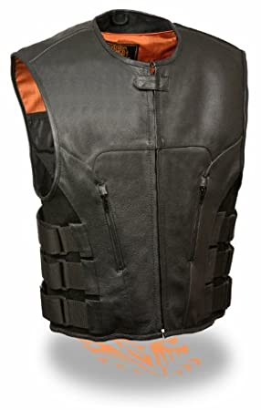 5X Mens Updated Bullet Proof Style Swat Vest Single Panel Back /& Wide Arm Holes Perfect for Clubs Patches