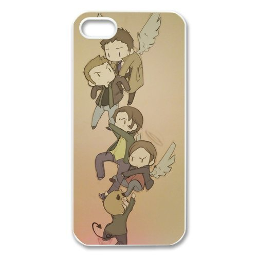 UCMDA High Quality Cartoon Supernatural Hard Back Case Cover for Apple iPhone 5 5S (Best Iphone 3g Themes)