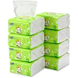 Dry Baby Wipes INSOFTB Soft Dry Cotton Wipes Baby Tissue Cotton for Sensitive Skin Portable 8 Packs 800 Count