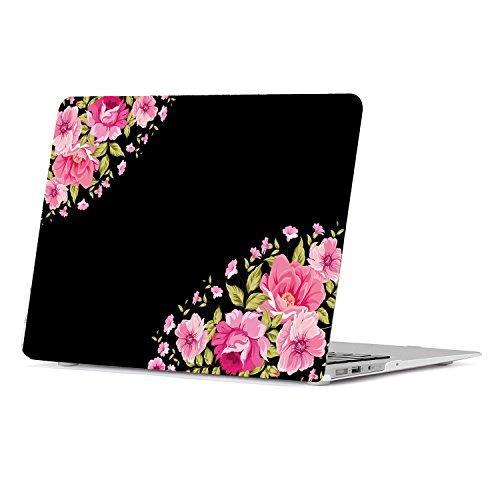 Pink Rose Pattern (Lapac Macbook Air 13.3 inch Plastic Hard Case Vintage Floral Pattern Series -Pink Rose(A1369/A1466))