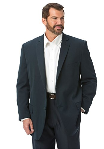 Kings' Court Men's Big & Tall Lightweight Blend Two-Button Suit Jacket, Navy 50 - Blend 2 Button Jacket