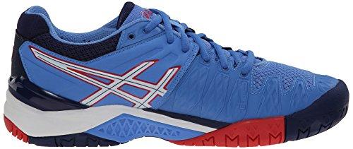 Zapato de tenis Gel Resolution 6 femenino, azul claro / blanco / hibisco, 5 M US