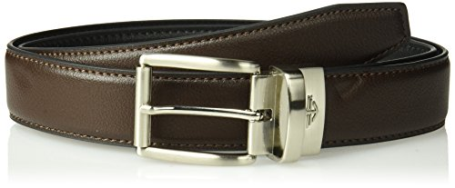 Dockers Men's Reversible Casual Belt with Comfort Stretch-brown/black, Large