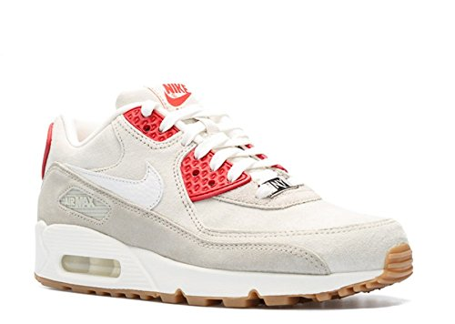 Nike WMNS Air Max 90 QS Light Beige Chalk/Summit White-Beige Chalk-Gym Red (813150-200) Light Beige Chalk/Summit White-Beige Chalk-Gym Red