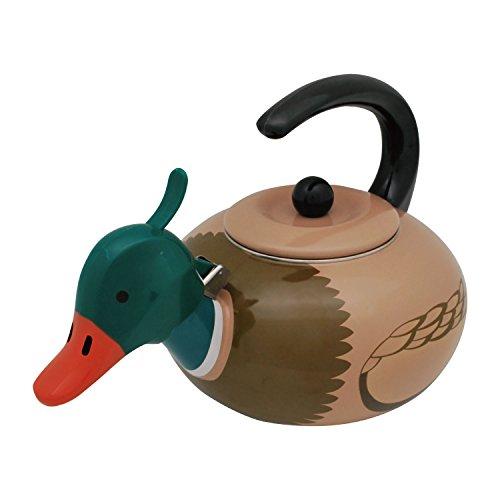 Supreme Housewares Stainless Steel Mallard Duck Whistling Te