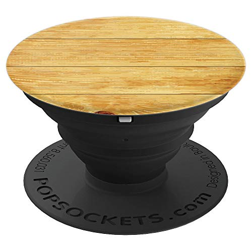 Faux Wood Grain - PopSockets Grip and Stand for Phones and Tablets