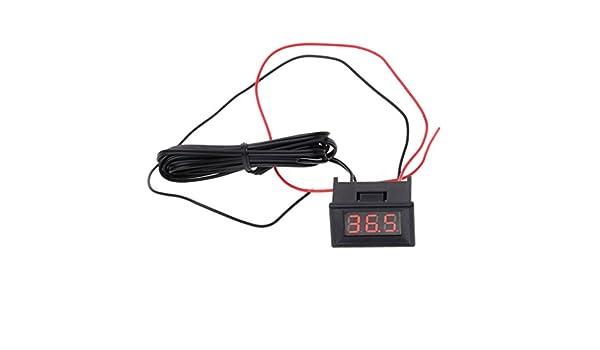 JENOR LED termómetro digital sonda de coche frigorífico congelador ...