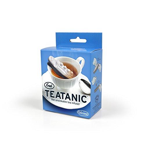 Infuseur à thé en silicone, facile à nettoyer, qui reprend la forme du fameux Titanic. - Marque : Fred